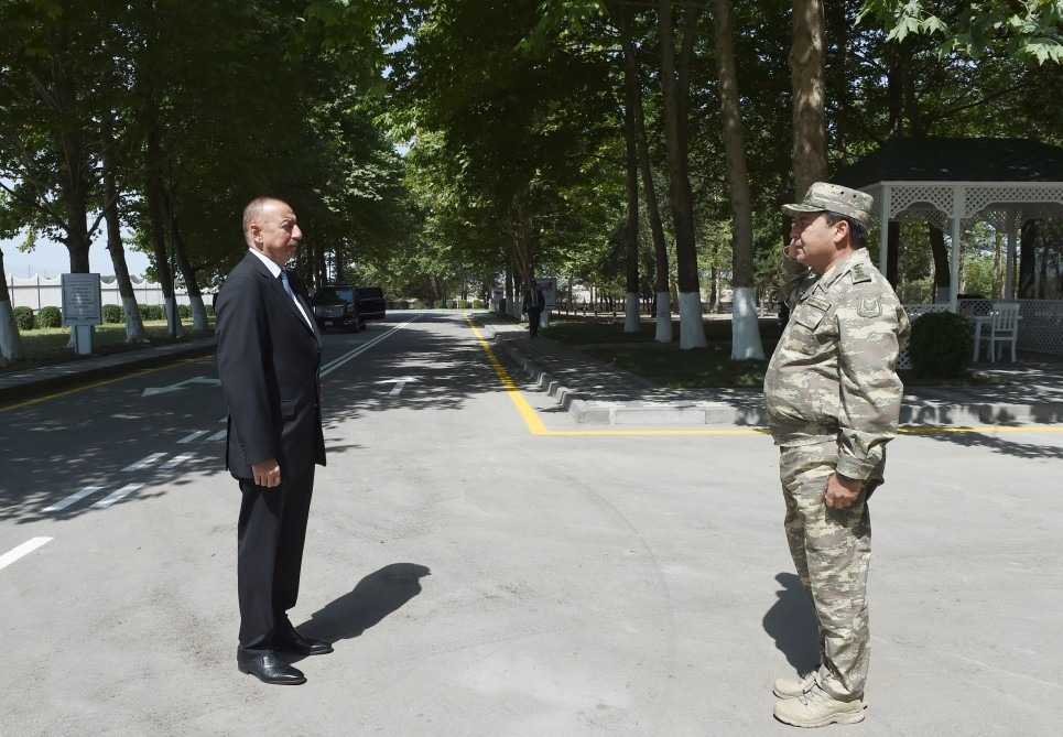 Ilham Aliyev viewed Mobile Field Surgical Hospital of Defense Ministry