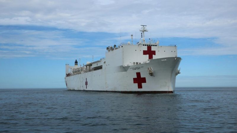 U.S. Military Deploys Hospital Ship, Aircrafts to Help Puerto Rico